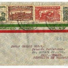 Sellos: MEXICO CORREO AÉREO. 1940 CARTA VOLADA DE MEXICO A COLOMBIA. Lote 61572168