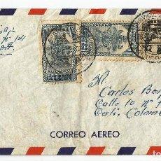 Sellos: MEXICO CORREO AÉREO. 1940 HISTORIA POSTAL. CARTA VOLADA DESDE MEXICO A COLOMBIA.. Lote 61572328
