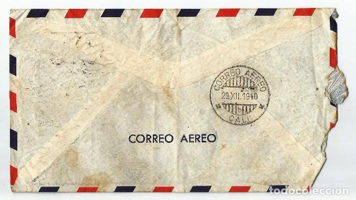 Sellos: MEXICO CORREO AÉREO. 1940 HISTORIA POSTAL. CARTA VOLADA DESDE MEXICO A COLOMBIA. - Foto 2 - 61572328