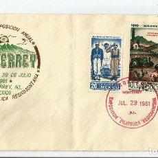 Sellos: MEXICO. 1961 - CONMEMORATIVO. CARTA CONMEMORATIVA A LA TERCERA EXPOSICIÓN FILATÉLICA. Lote 61572484