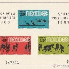 Sellos: MEXICO 1968. SERIE JUEGOS DE LA XIX OLIMPIADA 1968 Y SERIE PREOLIMPICA 1967 EN HB **.MNH ( 4 FOTOS). Lote 68653193