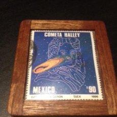 Sellos: SELLO CIRCULADO DE MEXICO AÑO 1986 COMETA HALLEY. Lote 68941057