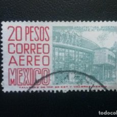 Sellos: MÉJICO MÉXICO , CORREO AÉREO , YVERT Nº 232, 1962-63 , ARQUITECTURA , FILIGRANA F, DENT. 14. Lote 86975640