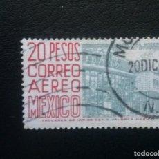 Sellos: MÉJICO MÉXICO , CORREO AÉREO , YVERT Nº 232, 1962-63 , ARQUITECTURA , FILIGRANA F, DENT. 14. Lote 86975756