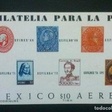 Sellos: MÉJICO MÉXICO , HOJITA HB , YVERT Nº 20 ** SIN CHARNELA , 1974. Lote 86984612