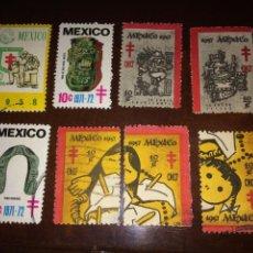 Sellos: MÉXICO LOTE DE SELLOS DE TUBERCULOSIS 1957 1958 1972. Lote 95321914