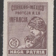 Sellos: MEXICO. VIÑETA ,PROTEJA A LA INFANCIA. HAGA PATRIA. ** MNH.(21-328). Lote 98444119