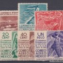 Sellos: SERIE 567/69 Y AEREO 116/18 CONFERENCIA INTERAMERICANA AGRICULTURA NUEVO SIN GOMA. . Lote 111661811
