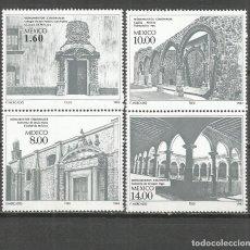 Sellos: MEXICO SELLOS MONUMENTOS COLONIALES ESPAÑA YVERT NUM. 998/1001 ** SERIE COMPLETA SIN FIJASELLOS. Lote 117812926