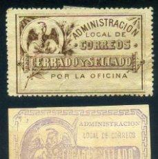 Francobolli: MEXICO DOS SELLOS CERRADO Y SELLADO 1892 Y 1895. Lote 115221955
