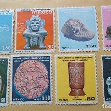 Sellos: SET SELLOS DE MEXICO ARTE NUEVOS CON GOMA TOMAÑO GRANDE. Lote 115973555