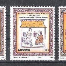 Sellos: MÉXICO Nº 982/984** PERSONAJES PREHISPÁNICOS II. SERIE COMPLETA. Lote 136521102