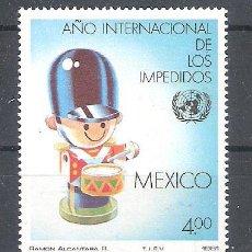 Sellos: MÉXICO Nº 939** AÑO INTERNACIONAL DE LAS PERSONAS DISCAPACITADAS. COMPLETA. Lote 136521586