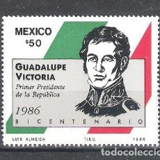 Sellos: MÉXICO Nº 1166** BICENTENARIO DEL NACIMIENTO DEL GENERAL GUADALUPE VICTORIA. COMPLETA. Lote 136522030