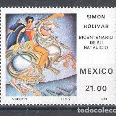 Sellos: MÉXICO Nº 1017** BICENTENARIO DEL NACIMIENTO DE SIMÓN BOLIVAR. COMPLETA. Lote 136522226