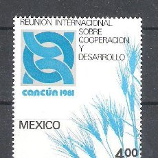 Sellos: MÉXICO Nº 954** REUNIÓN INTERNACIONAL SOBRE COOPERACIÓN Y DESARROLLO. COMPLETA. Lote 136522430