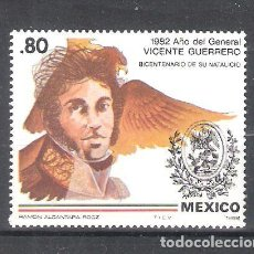 Sellos: MÉXICO Nº 981** BICENTENARIO DEL NACIMIENTO DEL GENERAL VICENTE GUERRERO. COMPLETA. Lote 136522850
