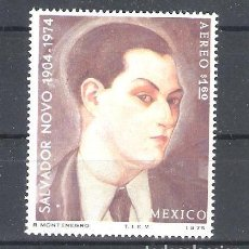 Sellos: MÉXICO Nº AÉREO 391** ANIVERSARIO DEL POETA SALVADOR NOVO. COMPLETA. Lote 136523086