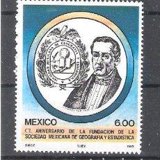 Sellos: MÉXICO Nº 1009** 150 ANIVERSARIO DE LA FUNDACIÓN DE LA SOCIEDAD DE GEOGRAFÍA Y CIENCIA. COMPLETA. Lote 136523354
