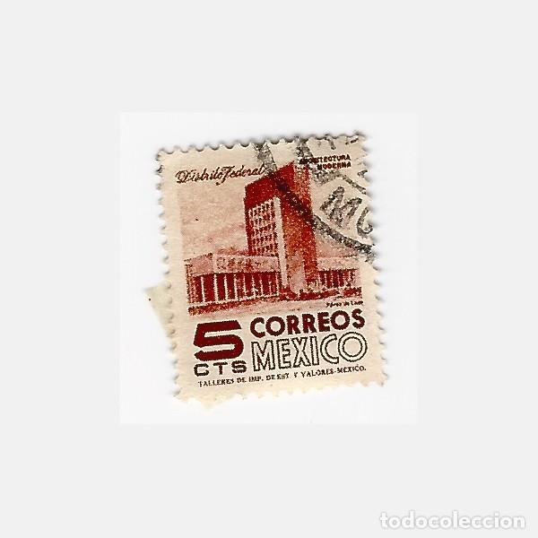 SELLO MEXICO 5 ARQUITECTURA MODERNA (Sellos - Extranjero - América - México)