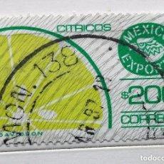 Sellos: MÉXICO, SELLO USADO EXPORTA CÍTRICOS . Lote 140349310