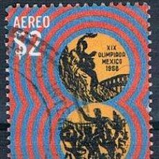 Sellos: MÉXICO 1968 Y PA294 USADO. Lote 144806538
