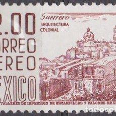 Sellos: 1962 - MEXICO - ARQUITECTURA COLONIAL - GUERRERO - YVERT PA 227. Lote 151147718