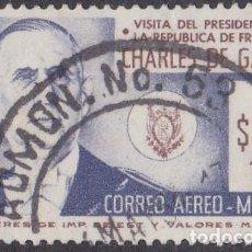 Sellos: 1964 - MEXICO - VISITA DEL PRESIDENTE CHARLES DE GAULLE DE FRANCIA - YVERT PA 244. Lote 151149678