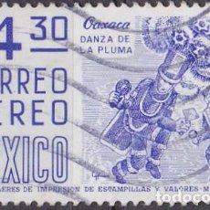 Sellos: 1975 - MEXICO - OAXACA - DANZA DE LA PLUMA - YVERT PA 444. Lote 151186606