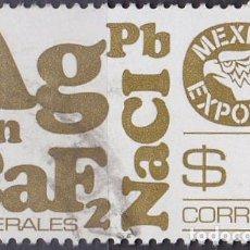 Sellos: 1978 - MEXICO EXPORTA - MINERALES - YVERT 861. Lote 151188706