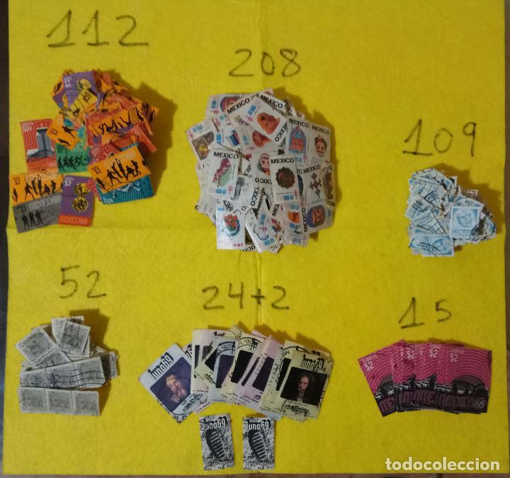 LOTE PACK CONJUNTO 712 SELLOS MEXICO MEJICO SELLO MIX CARTA SOBRE ENVIO CORREOS AEREO (Sellos - Extranjero - América - México)