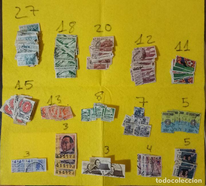 Sellos: Lote Pack Conjunto 712 Sellos Mexico Mejico Sello mix Carta sobre envio Correos aereo - Foto 2 - 151837554