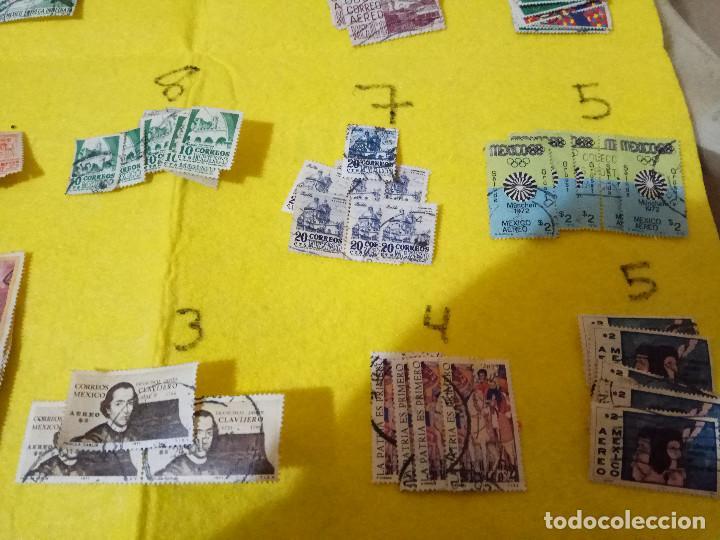 Sellos: Lote Pack Conjunto 712 Sellos Mexico Mejico Sello mix Carta sobre envio Correos aereo - Foto 4 - 151837554