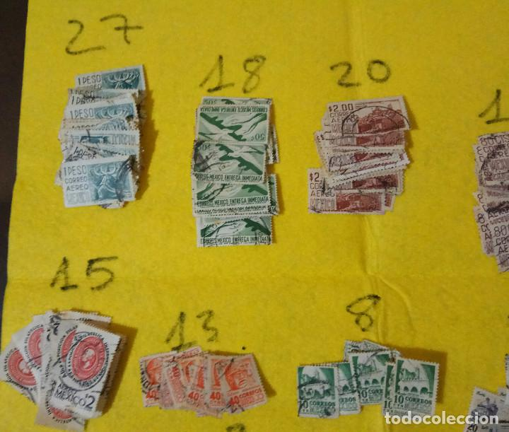 Sellos: Lote Pack Conjunto 712 Sellos Mexico Mejico Sello mix Carta sobre envio Correos aereo - Foto 6 - 151837554