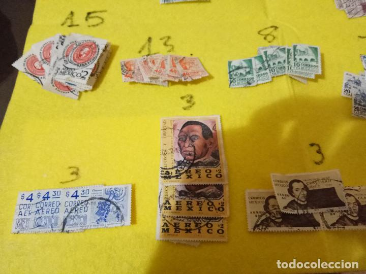 Sellos: Lote Pack Conjunto 712 Sellos Mexico Mejico Sello mix Carta sobre envio Correos aereo - Foto 14 - 151837554