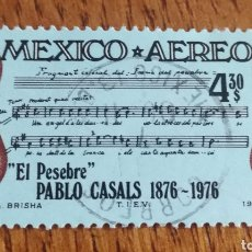 Sellos: MEJICO : AÉREO N°419USADO,PARTITURA EL PESEBRE.. Lote 155120041