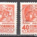 Sellos: MEXICO - DOS SELLOS - IVERT #633 - ***IMAGENES LOCALES***- AÑO 1951 - USADOS. Lote 159023986