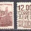 Sellos: MEXICO - DOS SELLOS - IVERT #A227A - ***IMAGENES LOCALES***- AÑO 1962 - USADOS. Lote 159032770