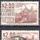Sellos: MEXICO - DOS SELLOS - IVERT #A227A - ***IMAGENES LOCALES***- AÑO 1962 - USADOS. Lote 159033042