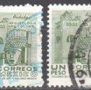 Sellos: MEXICO - DOS SELLOS - IVERT #706 - ***IMAGENES LOCALES***- AÑO 1971 - USADOS. Lote 159036326