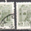Sellos: MEXICO - DOS SELLOS - IVERT #706 - ***IMAGENES LOCALES***- AÑO 1971 - USADOS. Lote 159036442