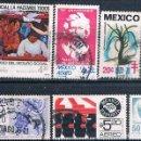 Sellos: MEXICO 1970 / 75 - MICHEL 1141 + 1143 + 1540 + 1511 + 1561 + 1575 ( USADOS ). Lote 159995106