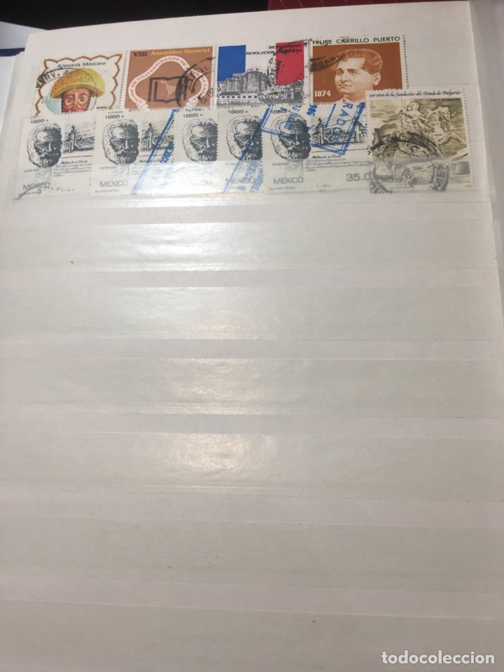 Sellos: Colección sellos 700 antiguos México antiguos y raros album 9 - Foto 2 - 110204095