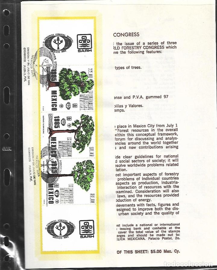 Sellos: GRAN OPORTUNIDAD MEXICO MAGNIFICO ALBUM CON DOS AÑOS DE MEXICO AÑOS 1985/1986 MONTADOS EN 23 HOJAS - Foto 5 - 15758648