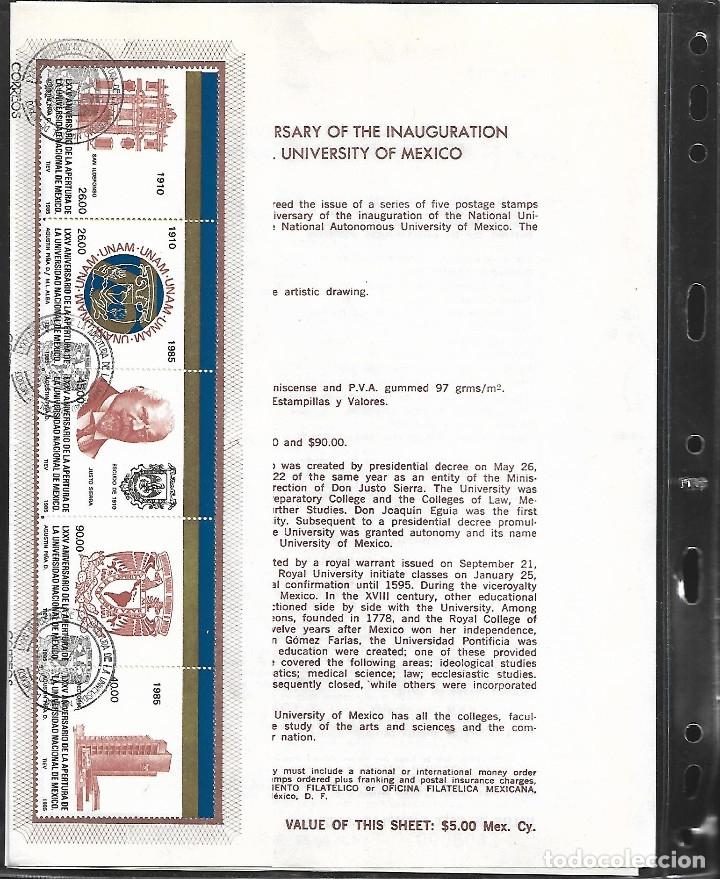 Sellos: GRAN OPORTUNIDAD MEXICO MAGNIFICO ALBUM CON DOS AÑOS DE MEXICO AÑOS 1985/1986 MONTADOS EN 23 HOJAS - Foto 6 - 15758648
