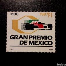 Francobolli: MÉXICO. YVERT 1205 SERIE COMPLETA NUEVA CON CHARNELA. COCHES. FÓRMULA 1. AUTOMOVILISMO. Lote 176036413