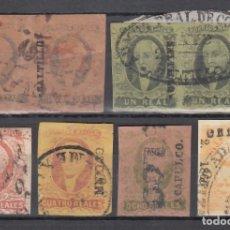 Sellos: MÉXICO, 1856 - 1864 LOTE DE SELLOS CON DISTINTOS MATASELLOS, . Lote 178068437