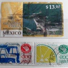 Sellos: MEXICO, 3 SELLOS USADOS DIFERENTES. Lote 180070816