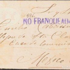 Sellos: MÉXICO. SOBRE YV 133, 135. 1896. 1 CTVO VERDE Y 3 CTVOS CASTAÑO AMARILLO (AMBOS AL DORSO). CORREO I. Lote 183146237
