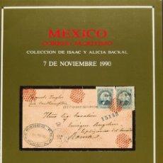 Sellos: MÉXICO, BIBLIOGRAFÍA. 1990. CATÁLOGO DE MEXICO CORREO MARITIMO, PERTENECIENTE A ISAAC Y ALICIA BACK. Lote 183160980